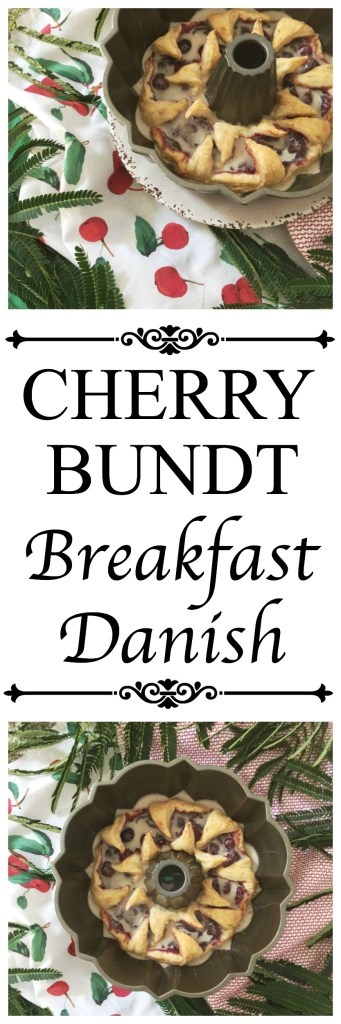 Try using your Bundt pan for something other than a cake for once by using puff pastry and cherry pie filling to create a quick and easy breakfast danish.