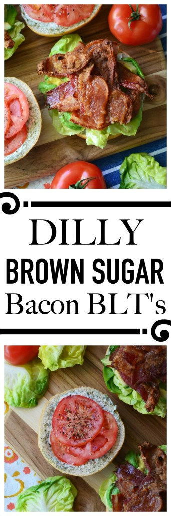 BLT's are quite amazing, however, when you add dill mayonnaise, avocado, and brown sugar rubbed bacon to them, they become something even more spectacular.