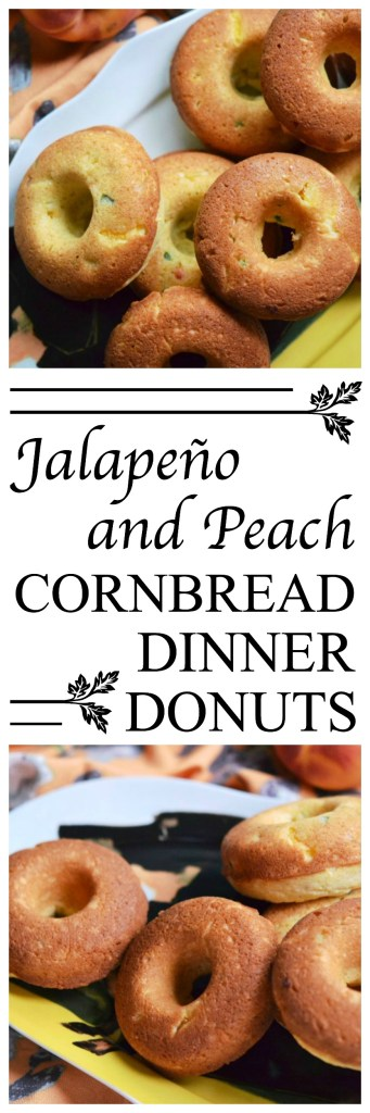 Diced jalapeño and peaches make these cornbread dinner donuts a particularly delicious treat with just the right hint of sweet and spicy flavor.