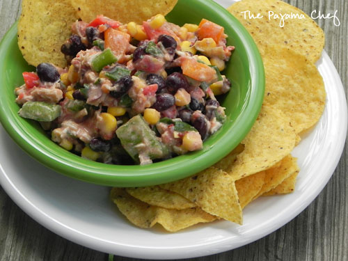 Skinny Southwest Chicken Dip - The Pajama Chef