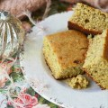 How do you turn ordinary everyday cornbread into Christmas Cornbread? Add a little bit of eggnog, apple butter, and Christmas spirit.