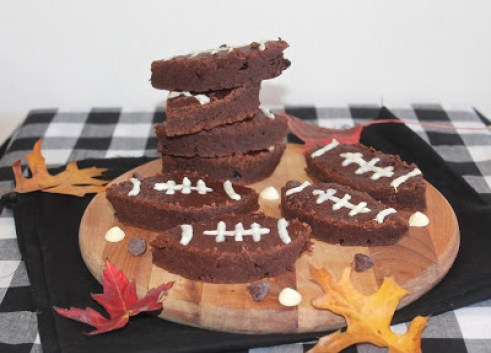 Greek Yogurt Football Brownies - Savory Moments - Welcome to the Friday Frenzy, the best food and craft link party on the web. Visit us this week to see what recipes and crafts we are most excited about.