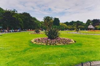 DUBLIN, IRELAND - 5th July, 2017: detail of St Stephen's Green Park in Dublin city centre