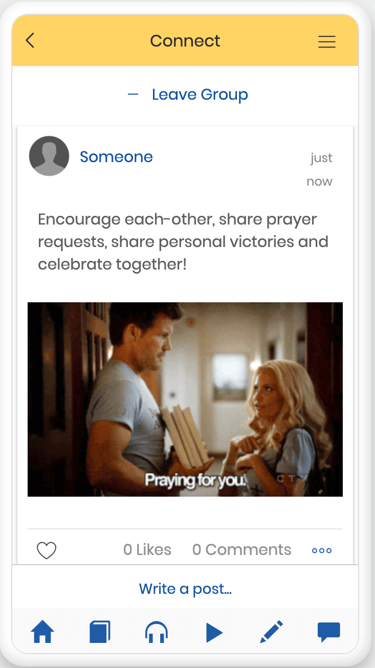 Encourage and connect