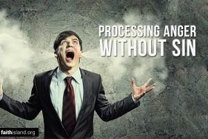 Processing anger without sin