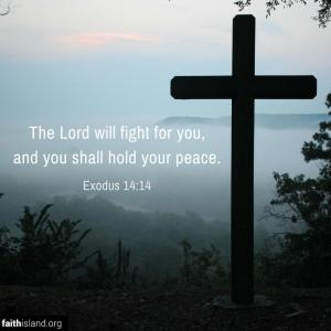 The Lord will fight for you - Exodus 14:14