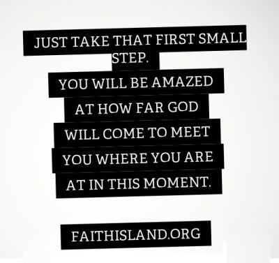 Just take that first small step