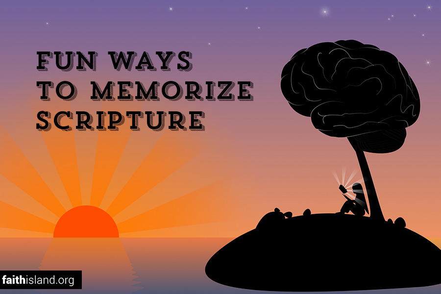 Fun ways to memorize scripture
