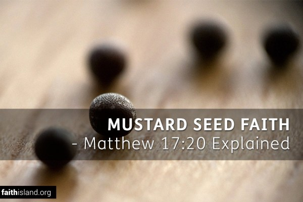 Mustard Seed Faith - Matthew 17:20 explained