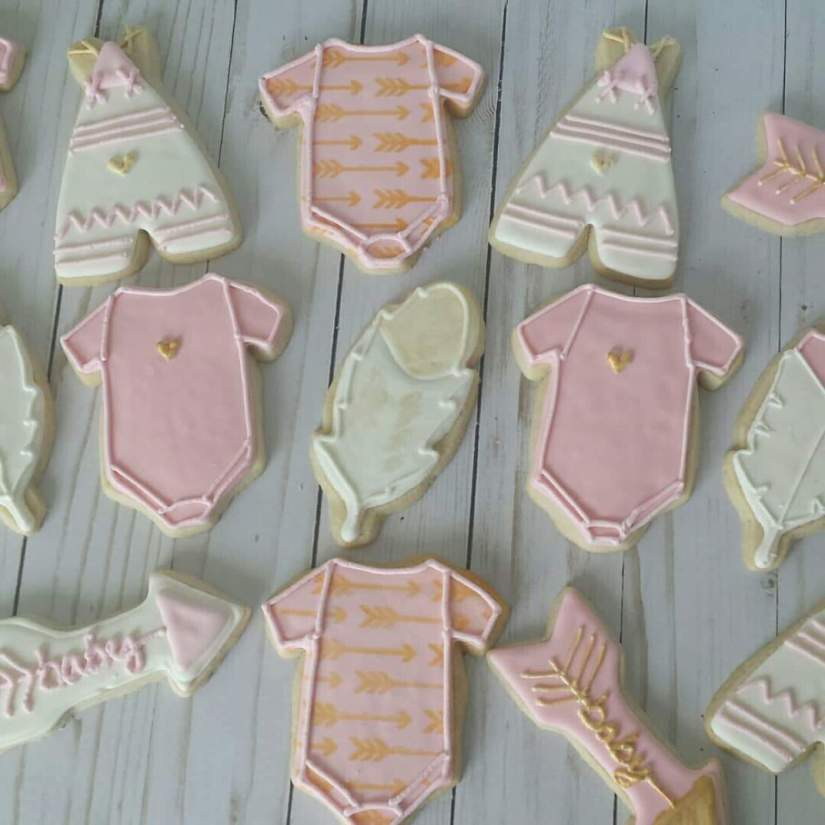 Tribal Baby Shower Cookies
