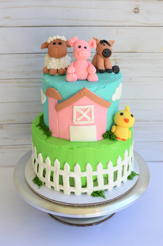 Admirable Farm Animal Themed Birthday Cake Faith Love And Chocolate Funny Birthday Cards Online Sheoxdamsfinfo