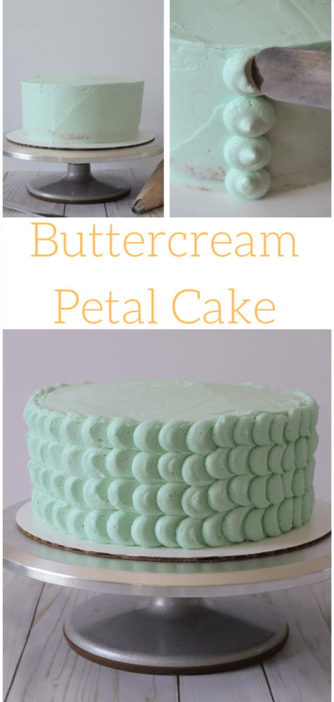 buttercream petal cake