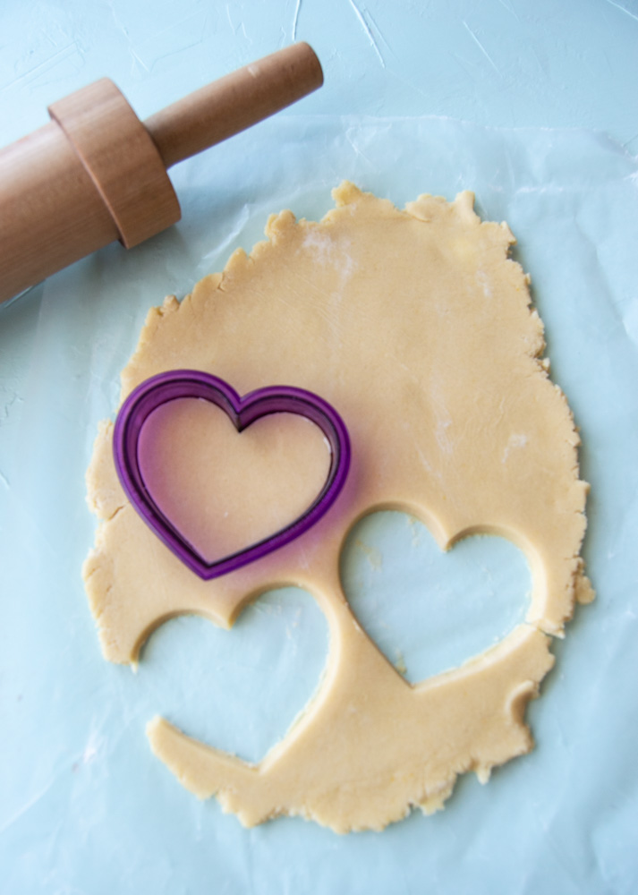 cut out sugar cookies.