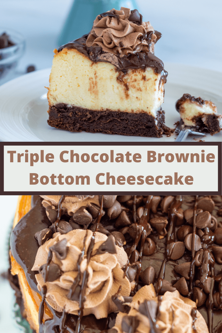 brownie cheesecake pin for Pinterest