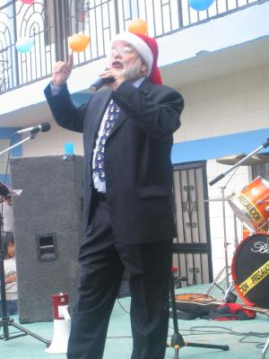 Deantin at a Christmas fiesta in Mexico
