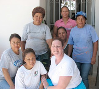 Pamela and friends she made in Miguel Aleman Mexico