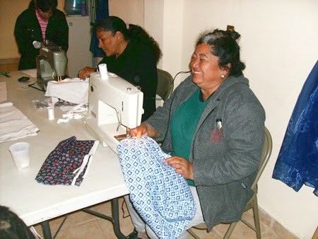 Women sewing in Mexico