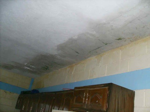 Water damage to the complex in Reynosa from Hurricane Alex
