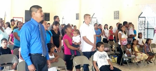A church celebration in Miguel Aleman