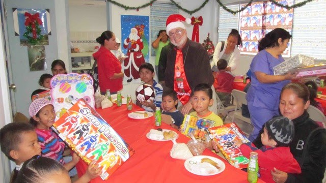 Deantin at Christmas fiestas in Reynosa