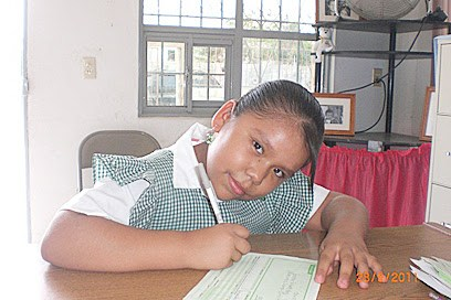 A scholarship student in Miguel Aleman
