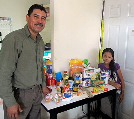 Getting ready to deliver food packages in Mexico