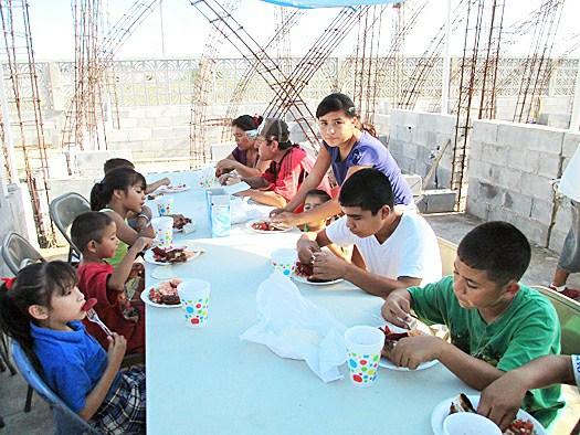 The nutrition program at work in Los Presidentes in Miguel Aleman