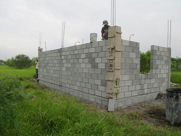 A house under construction in Miguel Aleman