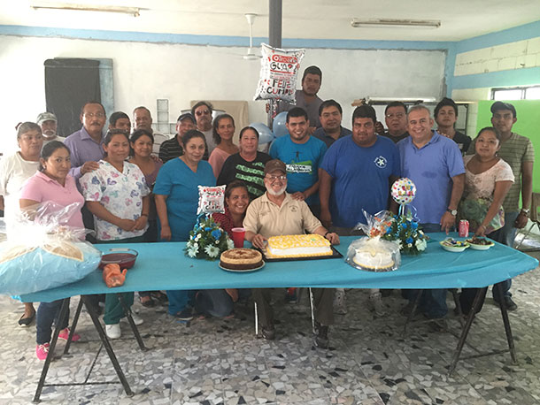 Celebrating Deantins birthday in Reynosa