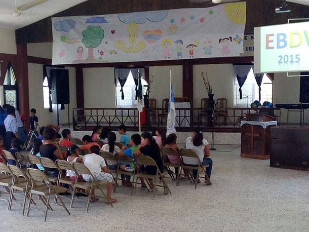 The kids at VBS in Reynosa