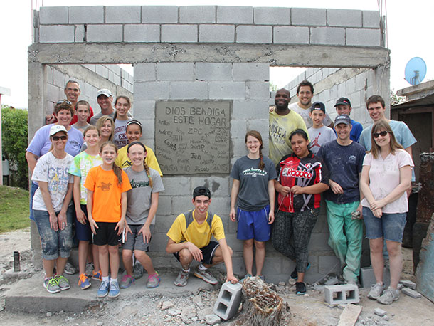 A group from Indiana after building a house this year in Reynosa