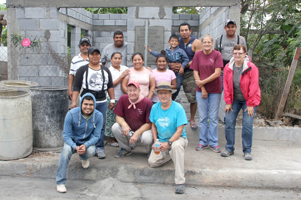 The last mission work group of 2015 finishing up a house in Reynosa