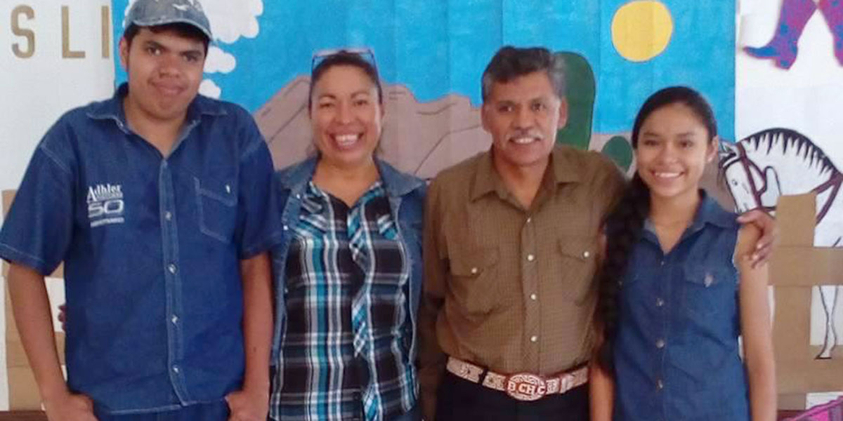 Pastor Benito and his family at Vacation Bible School in Miguel Aleman