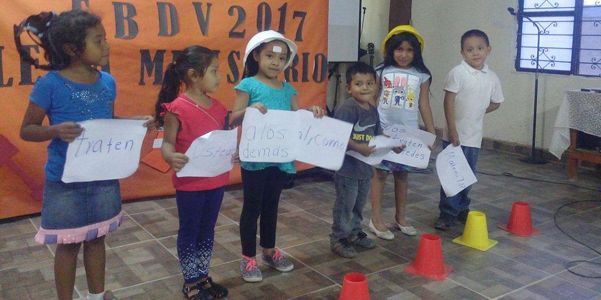 The kids at Vacation Bible School in Naranjito