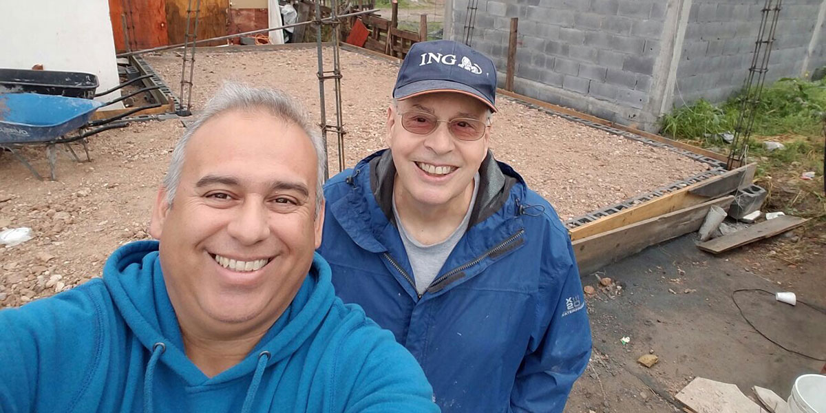 David and Dave on the jobsite in Reynosa