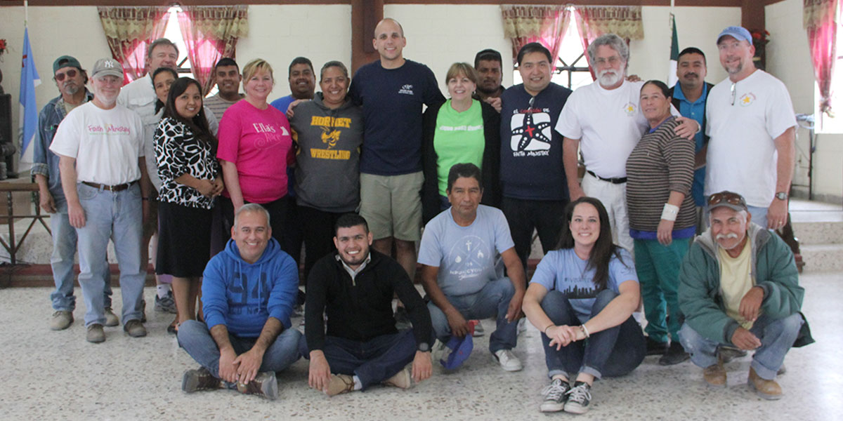 The Board of Directors with the staff in Reynosa