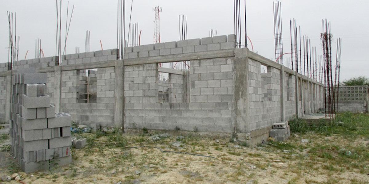 The community center progress in Miguel Aleman