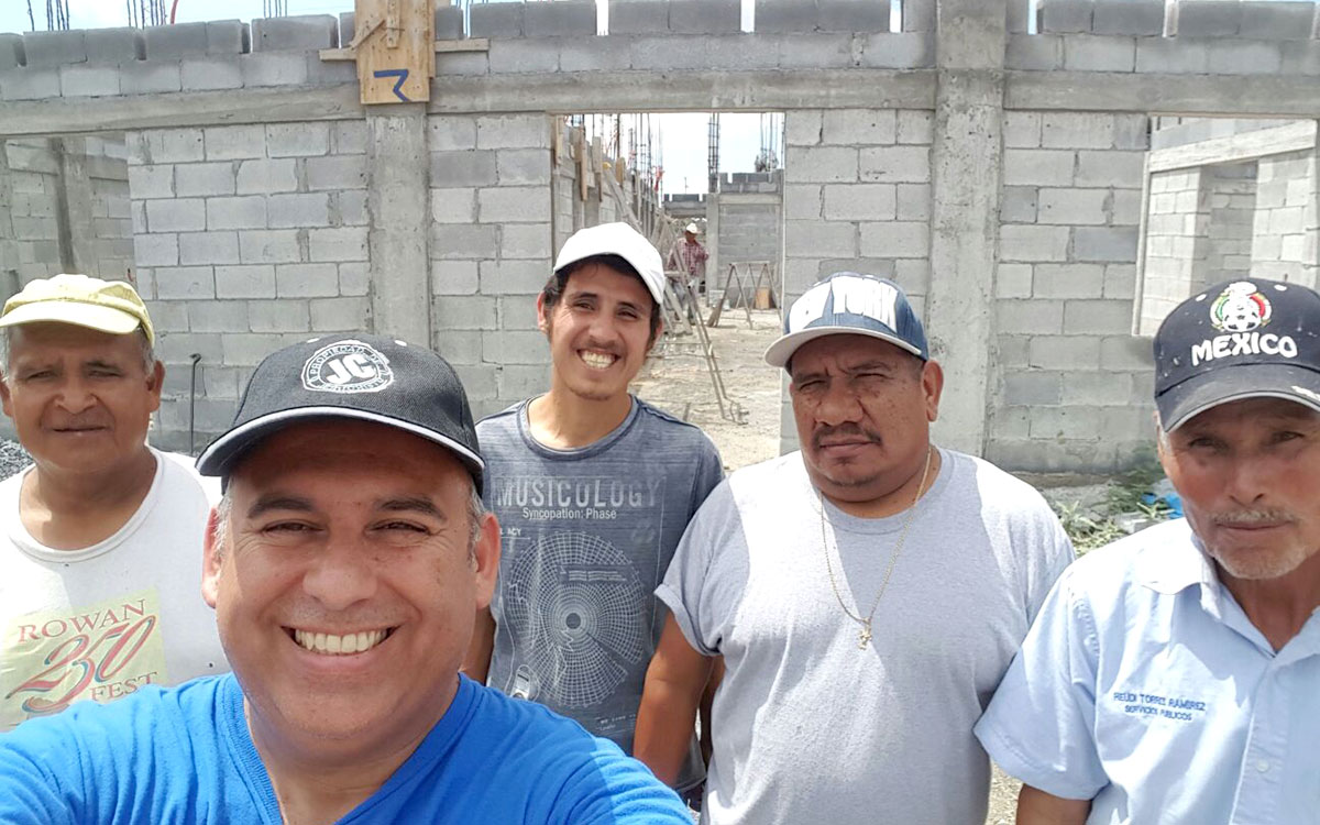 David and some of the staff in Miguel Aleman at the community center