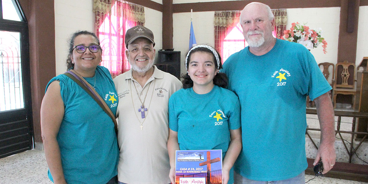Deantin and his family in Reynosa