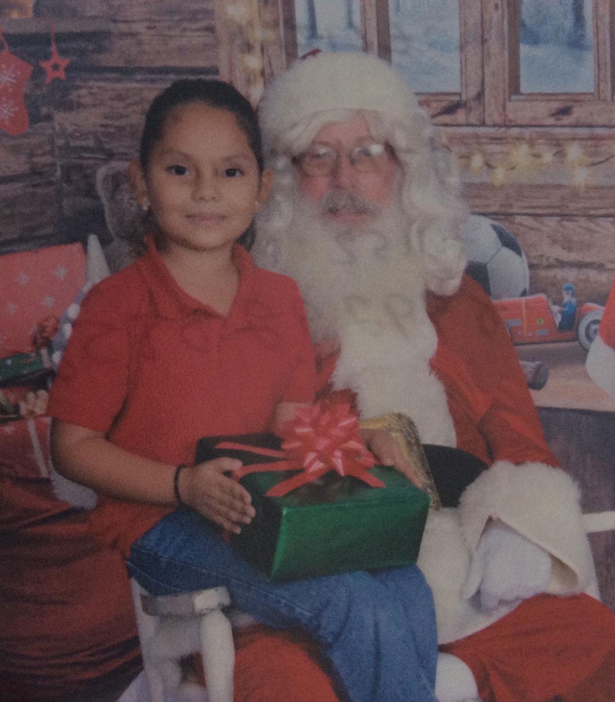 Little Katherin with Santa