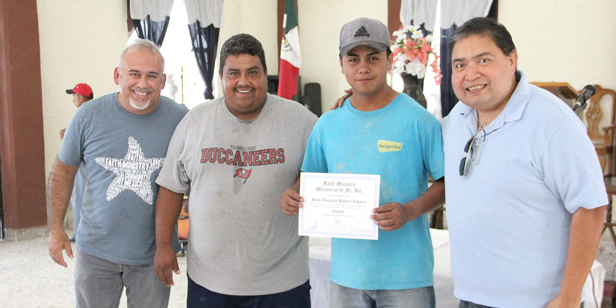 David Angel Jesus and Omar at the foreman apprenticeship graduation