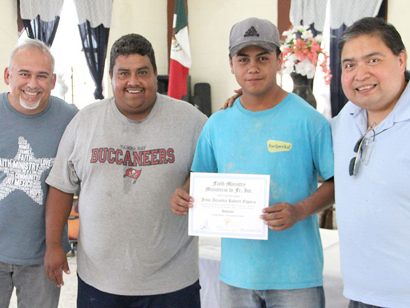 David Angel Jesus and Omar at the foreman apprenticeship graduation