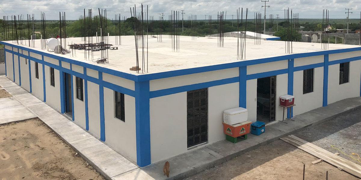 The community center complete in September 2018