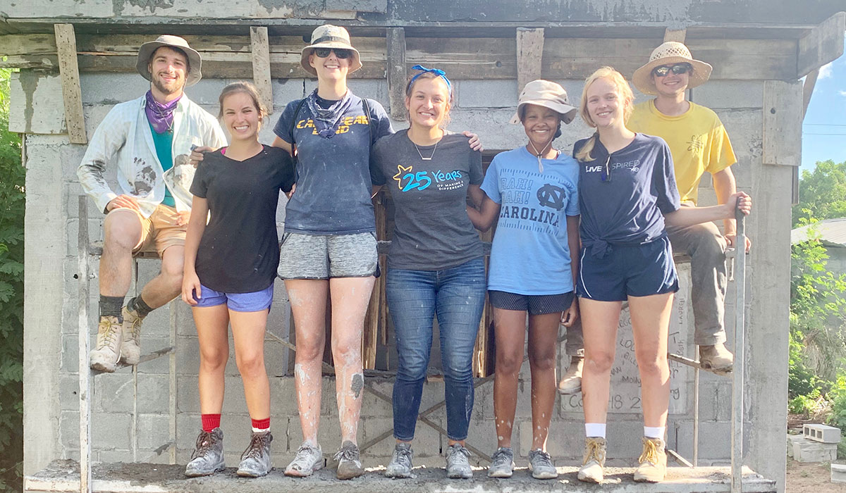 Our summer interns after pouring a roof in Reynosa Mexico