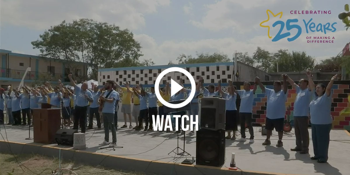 Click to watch the full service at the 25th anniversary fiesta