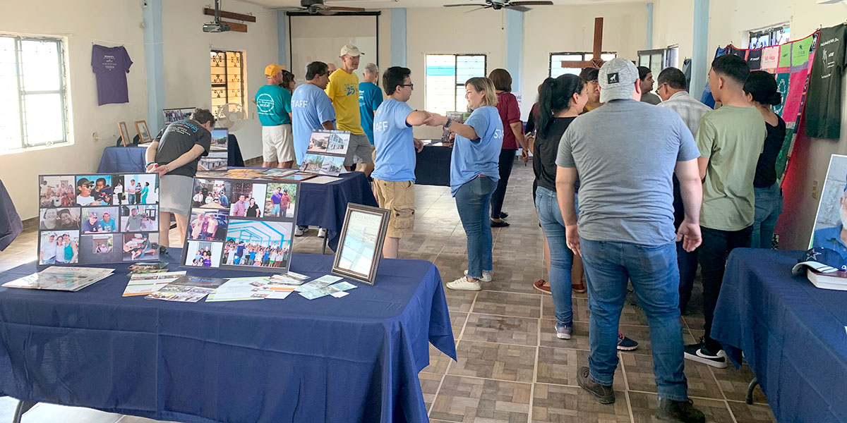 The Faith Ministry museum at the 25th anniversary fiesta in Naranjito