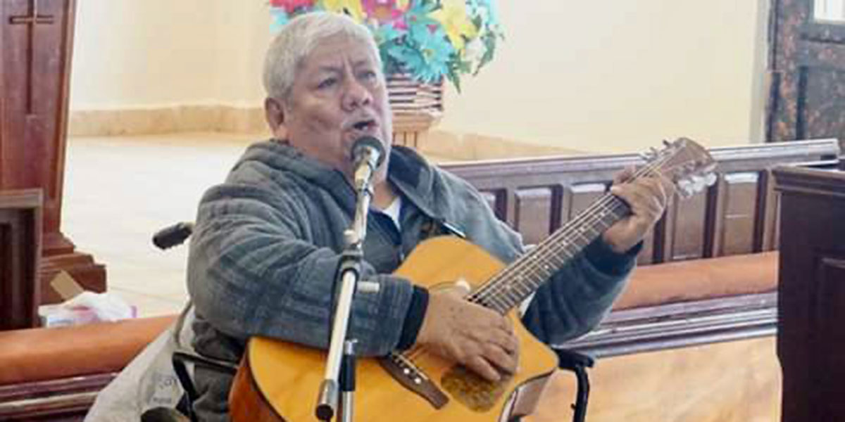Singing songs at the Valentines Day fiesta in Miguel Aleman