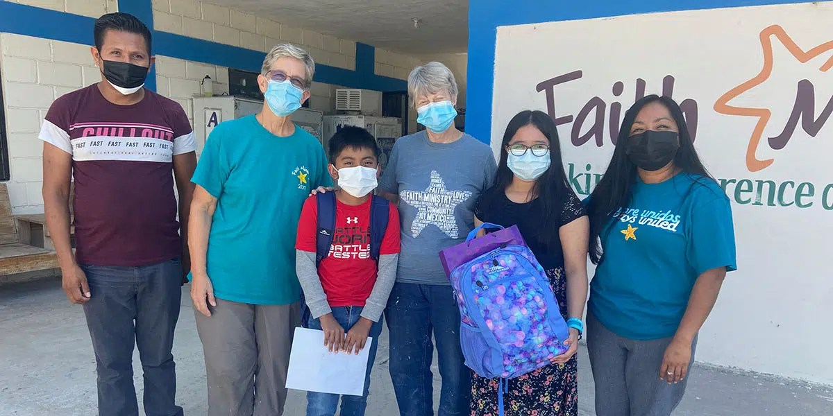 The team from Covenant Presbyterian with their scholarship students in Reynosa Mexico
