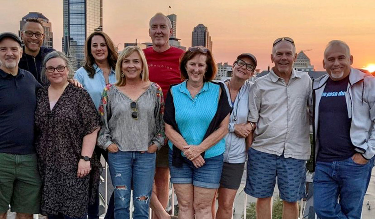 Colleen and David with friends in Indianapolis