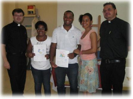 Baptism and Confirmation at Mission in Santiago